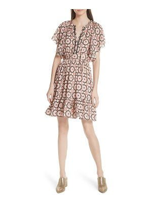 Kate Spade New York floral mosaic flutter dress