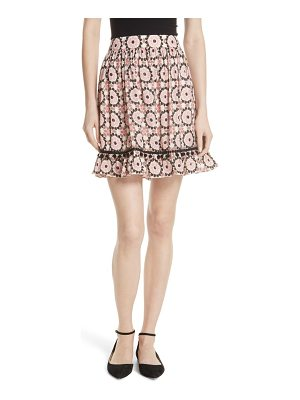 Kate Spade New York floral mosaic silk blend skirt