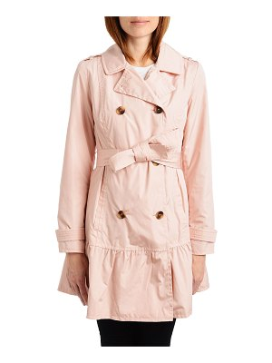 Kate Spade New York flounce double-breasted trench coat