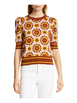 Kate Spade New York geo floral crop sweater