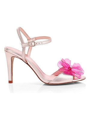 Kate Spade New York giulia flower metallic stiletto sandals
