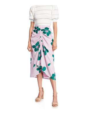 Kate Spade New York grand floral ruched skirt
