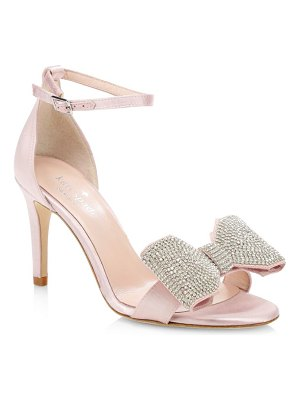 Kate Spade New York gweneth satin & crystal bow sandals