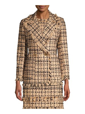 Kate Spade New York bi-color tweed blazer