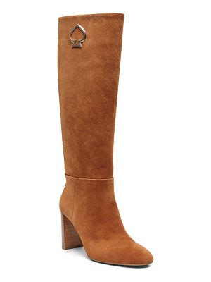 Kate Spade New York helana leather knee logo boots