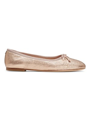 Kate Spade New York honey metallic leather ballet flats
