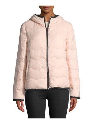 Kate Spade New York hooded & packable down jacket