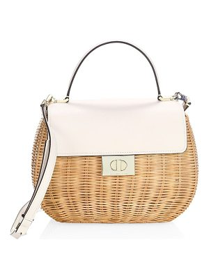 KATE SPADE NEW YORK Justina Straw Satchel