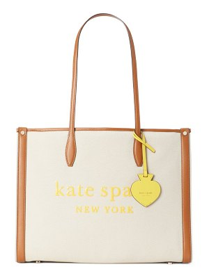 Kate Spade New York large market canvas tote