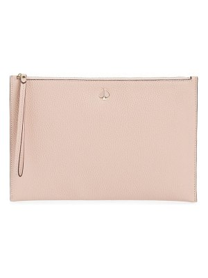 Kate Spade New York large polly leather wristet