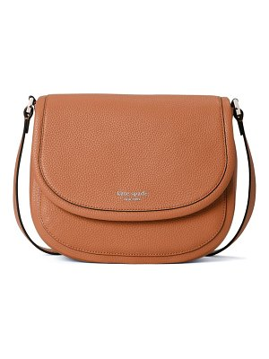 Kate Spade New York large roulette leather crossbody bag