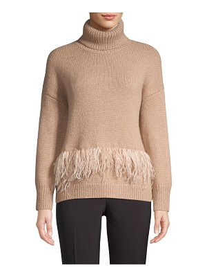 Kate Spade New York madison avenue feather-trim sweater