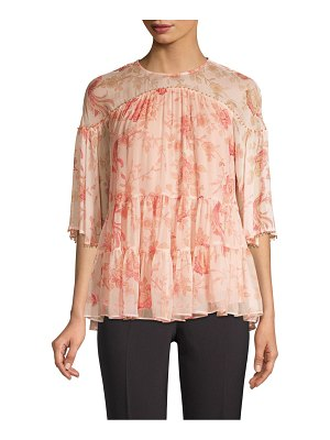 Kate Spade New York madison avenue nari chinoiserie silk blouse