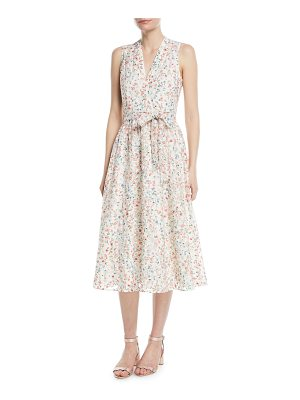KATE SPADE NEW YORK Mini Bloom Burnout Midi V-Neck Dress