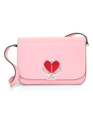 Kate Spade New York nicola spade & heart lock leather shoulder bag