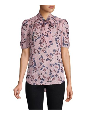 Kate Spade New York out west prairie rose silk blouse