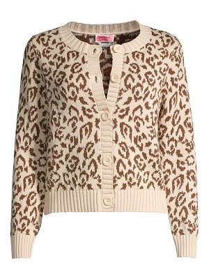 Kate Spade New York panther intarsia knit cardigan