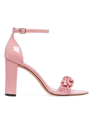 Kate Spade New York paradisi floral-beaded patent leather sandals