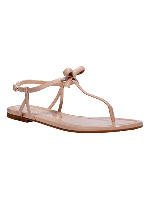 Kate Spade New York piazza bow t-strap flat sandals