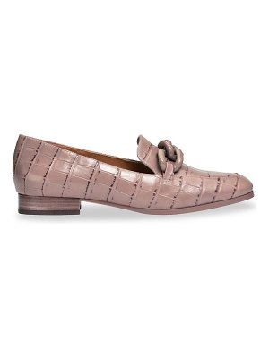 Kate Spade New York rowan square-toe croc-embossed leather loafers