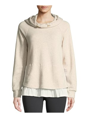 Kate Spade New York ruffle pullover layered hoodie