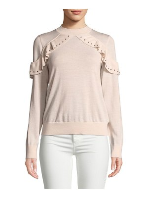Kate Spade New York ruffle studded wool sweater