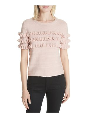 KATE SPADE NEW YORK Ruffled Cotton & Cashmere Sweater