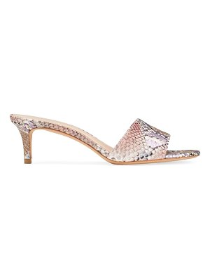 Kate Spade New York savvi snakeskin-embossed leather mules
