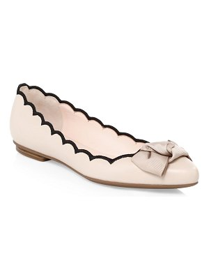 Kate Spade New York scalloped leather flats