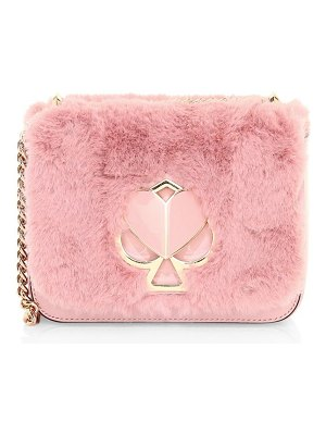 Kate Spade New York small nicola twistlock faux fur shoulder bag