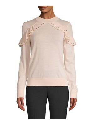 Kate Spade New York so foxy ruffle studded sweater