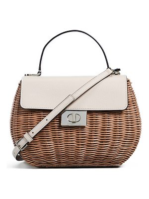 KATE SPADE NEW YORK Straw Justina Satchel