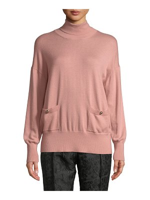 Kate Spade New York turtleneck patch-pocket sweater