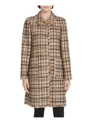 Kate Spade New York two-tone tweed coat