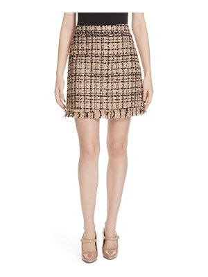 Kate Spade New York two-tone tweed skirt