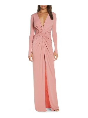 Katie May in a mood plunging long sleeve gown