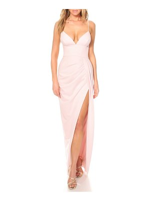 Katie May reconcile side slit column gown