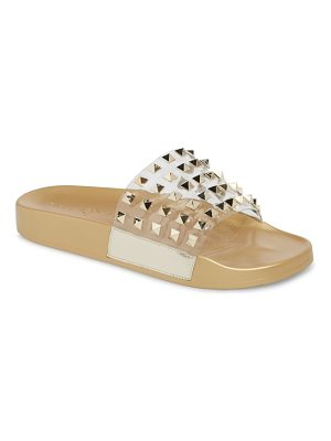Katy Perry studded slide sandal