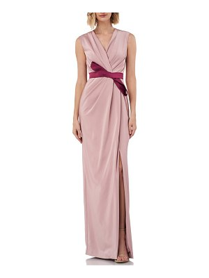 Kay Unger contessa stretch faille column gown