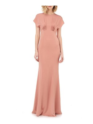 Kay Unger pintuck detail mermaid gown