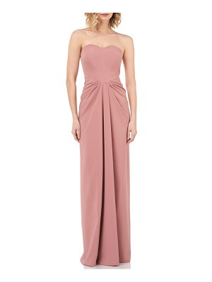 Kay Unger strapless gathered gown