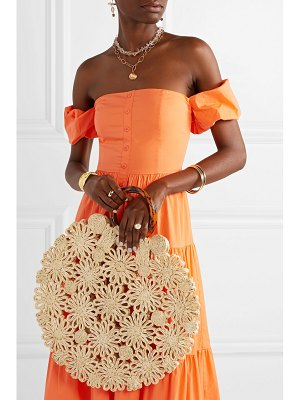 Kayu net sustain hollie resin and crocheted straw tote