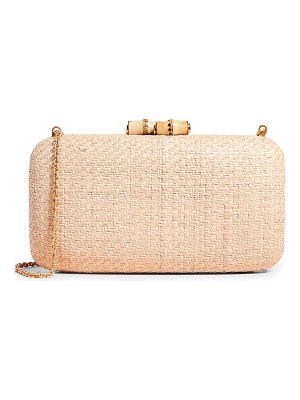 Kayu james straw clutch
