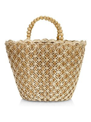 Kayu poppy straw basket tote