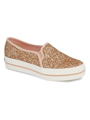 Keds for kate spade new York keds for kate spade new york triple decker glitter slip-on sneaker