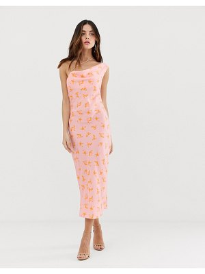 Keepsake allure strappy midi dress-pink