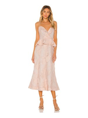Keepsake offset midi dress