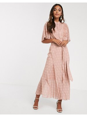 Keepsake passion polkadot midi dress-pink