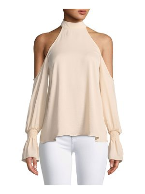 KENDALL + KYLIE Cold-Shoulder Bell-Sleeve Top