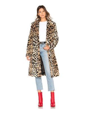 KENDALL + KYLIE Faux Fur Long Coat